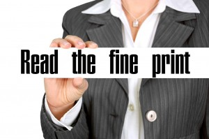 read the fine print in real estate contracts