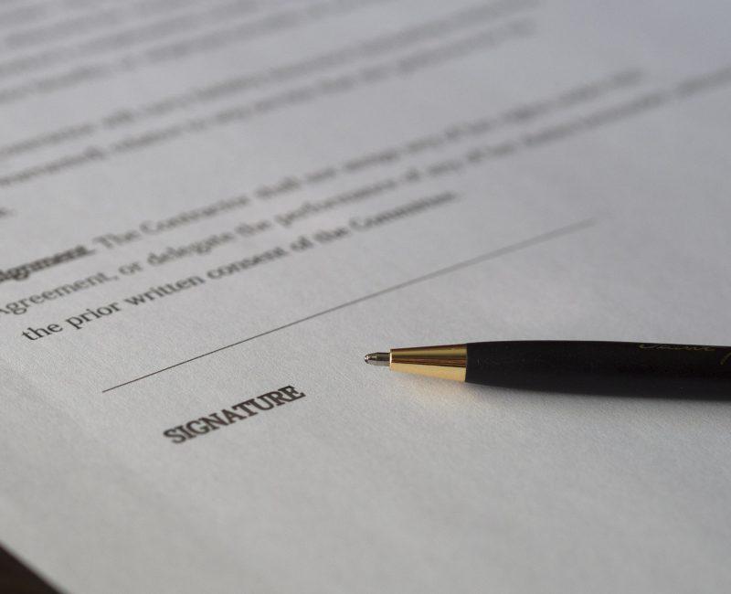 document for signature
